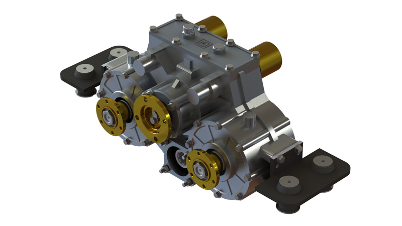 Horizontal Split Shaft PTO with Clutches